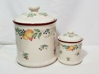 Matching Cookie Jar Candy Dish Canister Set JAY IMPORTS COMPANY Fruit Themed