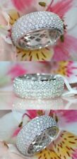 7.00 CT Round Brilliant Cut Diamond Engagement Ring Wedding Band Ring 925 Silver