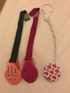 Baby Infant Soother/ Pacifier/  clip on Dummy Holders 3