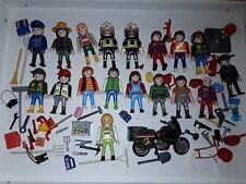 Lot Playmobil personnage + accessoires police pompier et autre métier