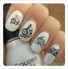 Nagelsticker Nail Art Tattoo Aufkleber Musical Notes Muster BPS004