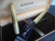 AURORA 98 PENNA STILOGRAFICA VERMEIL IN ARGENTO 925 ORO +GAR Silver fountain Pen