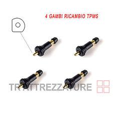 Kit 4 Gambi valvola gomma ricambio sensore tpms pneumatici ruota