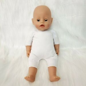 "16"" Zapf Baby Doll Interactive Laughs Cries Eyes Open Close Blue Lovey B225"