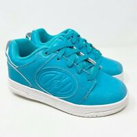 Heelys Voyager Skate Wheeled Shoes Turquoise Blue White Youth Size 4Y