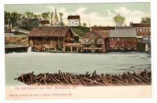 ME - MODERATION WEST BUXTON MAINE UDB Postcard OLD CHURCH & MILL