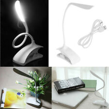 Dimmable USB Rechargeable Touch Sensor LED Clip-On Desk Table Reading Lamp Light