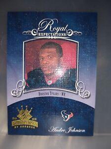 2003 ANDRE JOHNSON GRIDIRON KINGS ROYAL EXPECTATIONS ROOKIE TEXANS MIAMI FREESHP