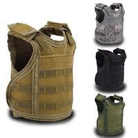 Military Tactical Mini Vest Soda Beer Bottle Molle Vest Holder Carrier Holster