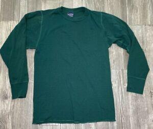 Mens Duofold Green Long Undershirt USA Made Size Medium