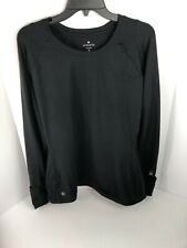 Athleta Long Sleeve Running Shirt XL Black Athleisure Thumb Holes