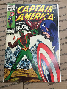 Captain America No.117    1ST APPEARANCE OF THE FALCON     1969  Marvel