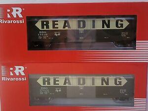 Rivarossi HO Reading 50ft boxcar plug Door w/O roofwalk RDG Pack 2 Green/Yellow