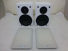 NHT SuperOne Speakers 150W White Pair Book Shelf Monitor - NEAR MINT WHITE  WOW