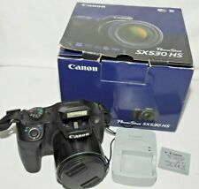 Canon PowerShot SX530 HS 16.0MP 50X Zoom Digital Camera WiFi Box Battery Charger