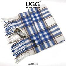 AUZLAND UGG Pure Wool Scarf with Fringe Wrap,180CM x 30CM, Soft Fashion Warm Win