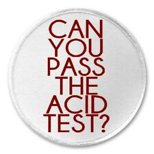 """Can You Pass The Acid Test? - 3"""" Sew / Iron On Patch Kool Aid Electric Tom Wolfe"""