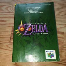 The legend of zelda: majora's mask nintendo 64 Instruction Booklet Only