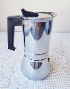 VeV Vigano Vespress Nero 4-Cup Stovetop Espresso Coffee Maker 18/10 Inox Italy
