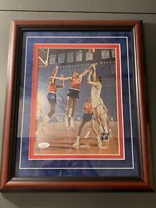 Billy Cunningham Autographed Vintage Magazine Photo W/ Wilt JSA COA Custom Frame