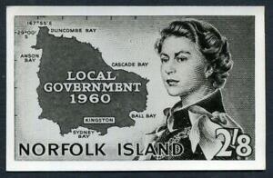 NORFOLK ISLAND 1960 LOCAL GOVT. PHOTO PROOF FINE & RARE