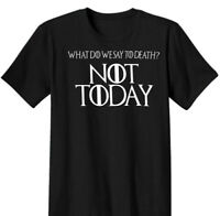 NEW Game of Thrones GOT Arya Stark Not Today Tyrion Direwolf T-Shirt Shirt S-XL