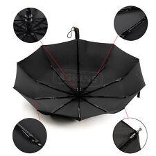 Auto Open Close Wind Resistant Fiberglass Windproof Vented Men's Rain Umbrella