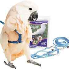 SAVE BIG NOW! Premier Feather Tether Bird Harness and Leash MEDIUM BLUE NEW