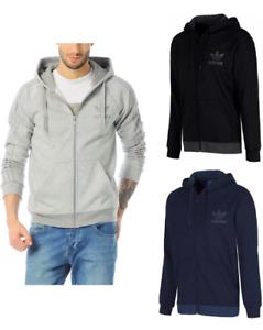 Adidas Originals Mens SPO Trefoil Fleece Full Zip Hooded Hoodie Top