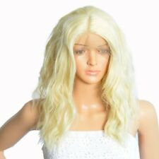 NWT ICENEL Medium Long Wavy 16 inch Synthetic LaceFront FullWig Blonde 613 - 010
