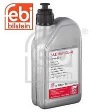 1x   1Ltr Manual Gearbox Oil SAE 75W GL-4 Yellow, Fits Mercedes VAG- FEBI 21829