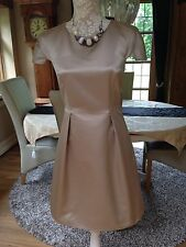 DESIGNER FRENCH CONNECTION CHAMPAGNE GOGO MOMENTS TULIP DRESS 10 38 BNWT