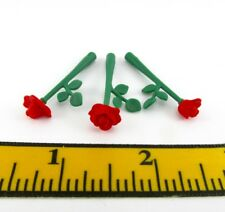 PLAYMOBIL~Flowers~3 Red~Tea Roses~Dollhouse~Victorian~Garden~Bouquet