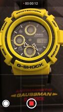 "Casio G-Shock ""GAUSSMAN MEN IN YELLOW"" AW-570Y-9AT Preowned"