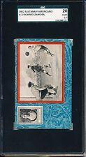 1922 Ricardo Zamora Chocolates Sultana SGC 20 = PSA 1.5 Amazing Art Deco card