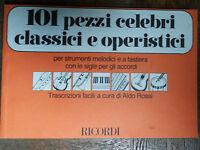 101 pezzi celebri classici e operistici - AA.VV. - Ricordi,1987 - R