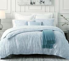 Sferra Giamina F/Queen Duvet Cover +Boudoir Sham Sky Blue Floral Cotton Jacquard
