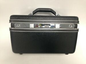 Large Samsonite Hard Shell Makeup Case With Security Lock Good Condition #890