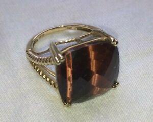 Large Red Tiger/'s Eye Ring