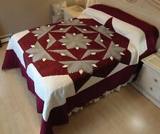 NEW! AMISH HANDMADE QUILT! ~ Star Medallion ~ 106 x 118