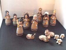 Mexican Pottery Nativity Set/Handmade Vintage