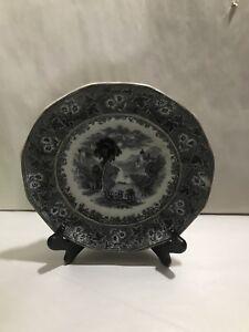 Antique Mulberry Trivoli Transferware C Meigh Plate 1840