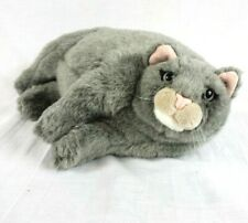 "Vintage Dakin Applause Plush Duchess Pampered Pet Grey Cat Lying Down 14"" Rare"