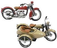 Woodland Scenics Motorcycles & Sidecar Kit HO D228
