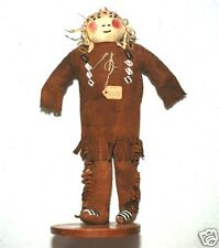"""Fine Early Antique Authenic Native American Sioux SD 12"""" Doll Museum Deaccession"""