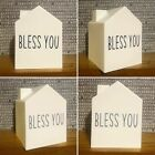 Decorative 'Bless You' House Shaped Tissue Box Cover - Home Accessories