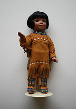 "DANBURY MINT PORCELAIN DOLL, ""BIRD SONG"", NATIVE AMERICAN INDIAN BY ARTAFFECTS"
