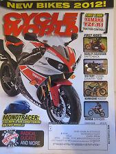 Cycle World Magazine November 2011 Harley Davidson Switchback Victory Cross Tour