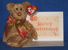 TY MC MASTERCARD ANNIVERSARY #4 BEAR with CARD - MINT with MINT TAGS