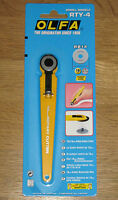 OLFA 18mm Rotary Hobby Cutter RTY-4 Sewing Craft cuts Fabric Paper - *NEW*